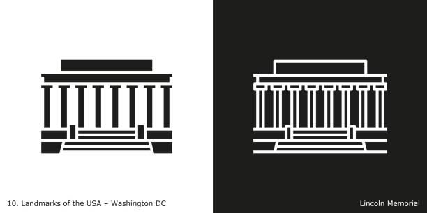 Best Lincoln Memorial Illustrations, Royalty.