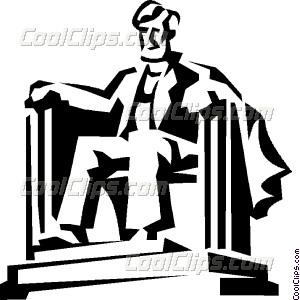 Lincoln memorial Vector Clip art.