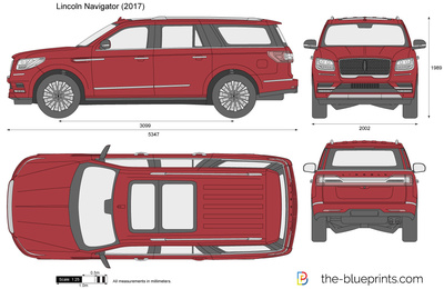 Lincoln Navigator vector drawing.