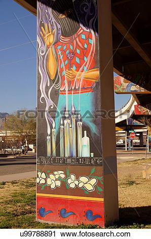 Stock Photography of lincoln park art initiative el paso texas tx.