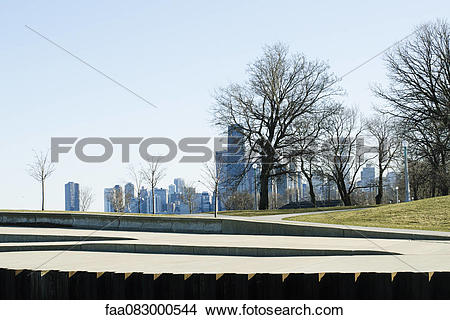 Stock Photo of View of Lincoln Park Building on the downtown.