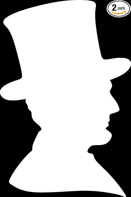 Amazon.com: ANGDEST Abraham Lincoln Silhouette (Burgundy.