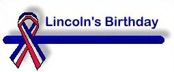 lincolns birthday clipart #16