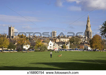 Stock Photo of Georgian Town of Stamford, Lincolnshire, UK.