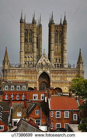 Stock Photograph of Lincoln Cathedral, Lincoln, Lincolnshire.