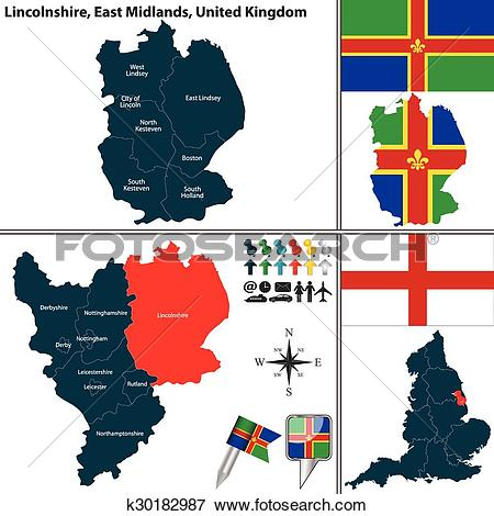 Clip Art of Lincolnshire, East Midlands, UK k30182987.