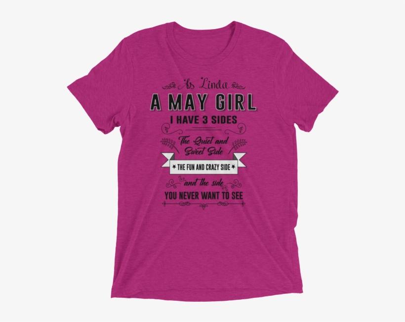 Customized May Girl Shirt For Linda.