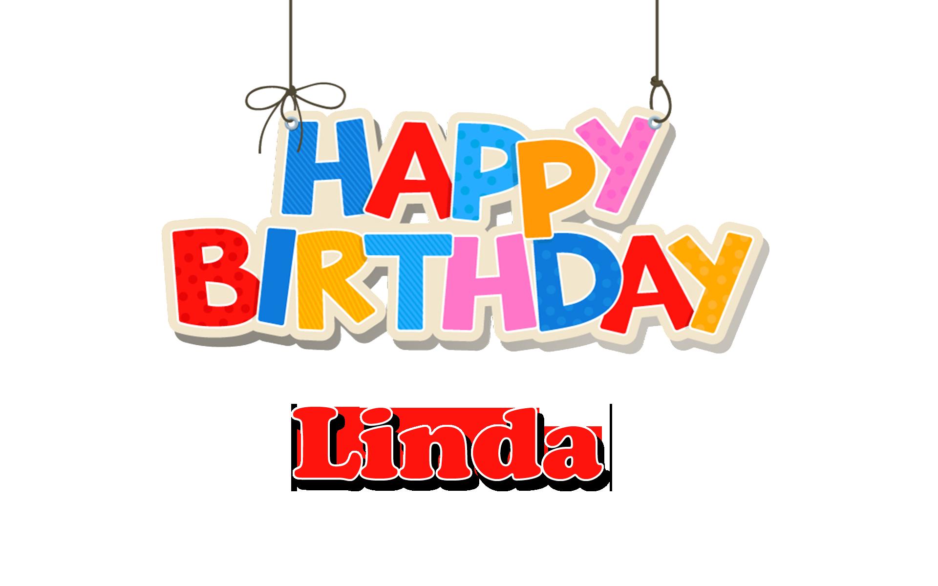 Linda Happy Birthday Name PNG.