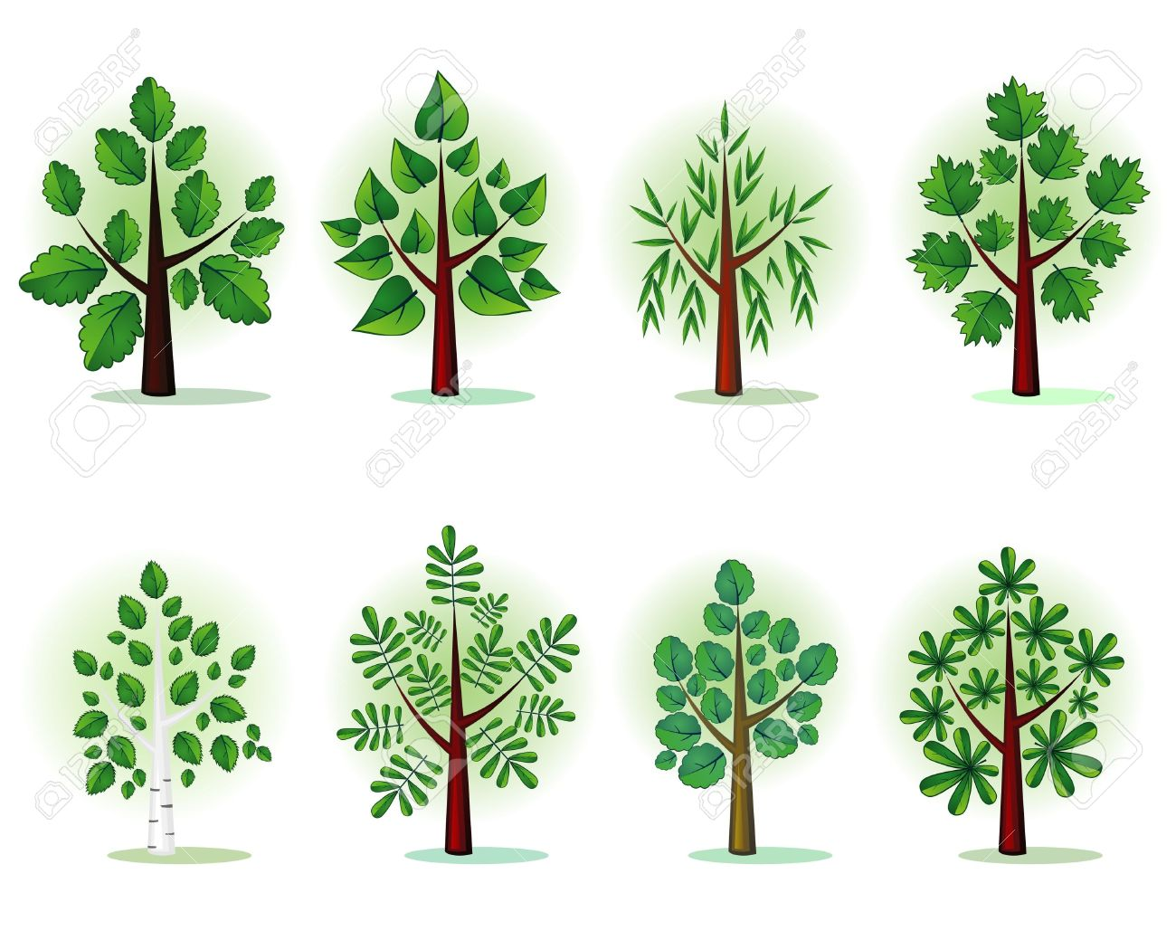 Stylized Forest Trees Royalty Free Cliparts, Vectors, And Stock.