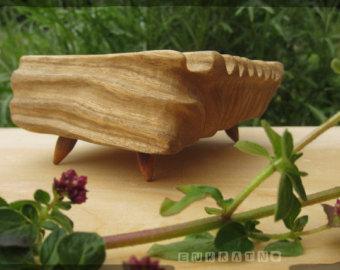 Handmade SOAP holder soap dish wood bathroom art decor by ENKRATNO.