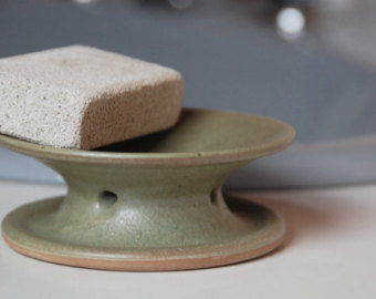 Draining soap dish.
