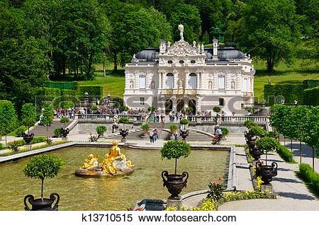 Stock Image of Linderhof Palace k13710515.