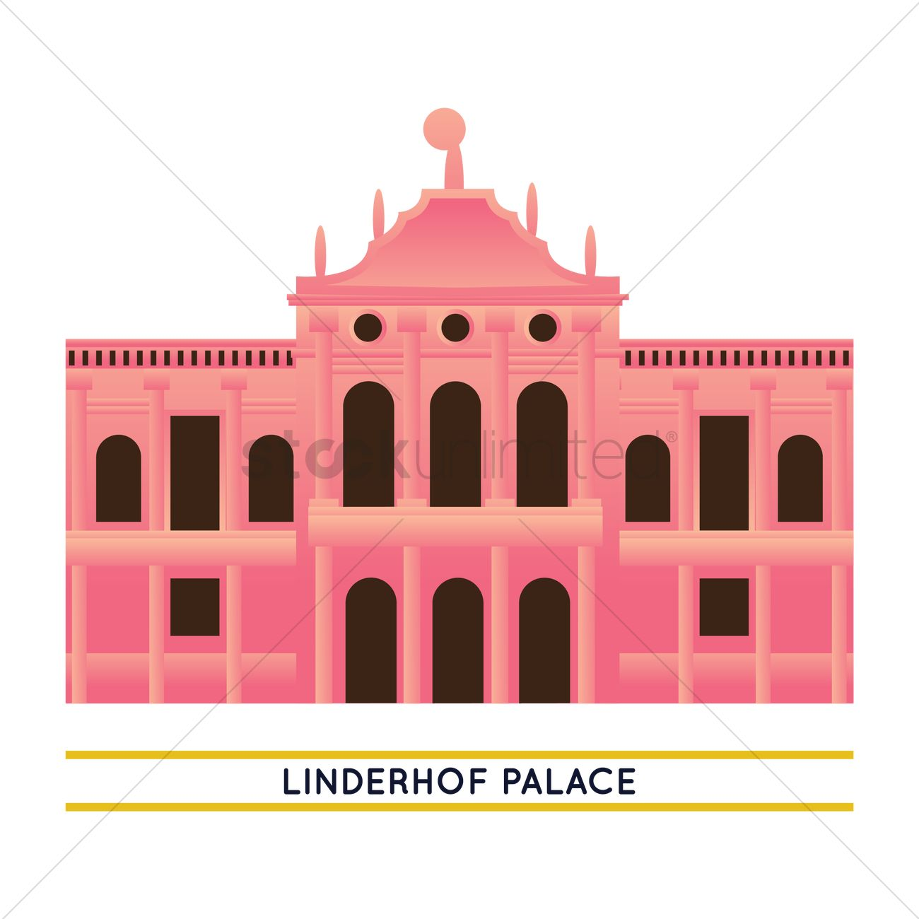 Linderhof palace Vector Image.