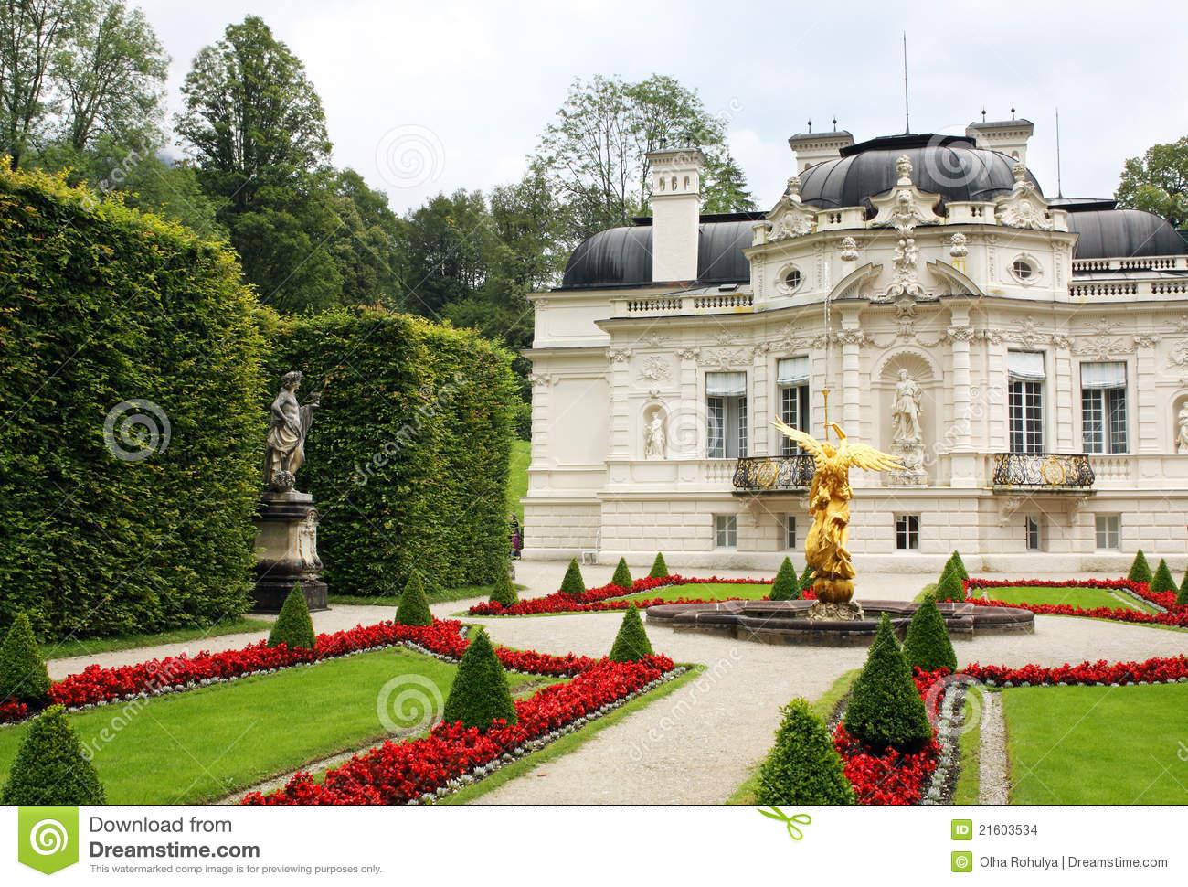 Linderhof Palace Stock Images.