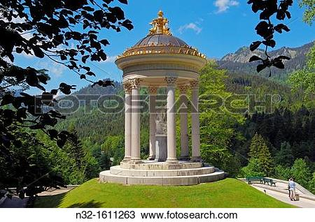Stock Photo of Venus Temple, Linderhof Palace (Schloss Linderhof.