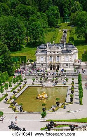 Stock Photography of Linderhof Palace k13710541.