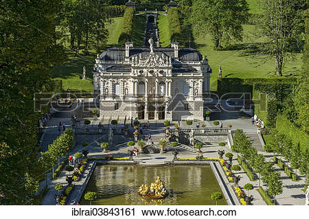 "Stock Photography of ""Water parterre in the palace gardens, in."