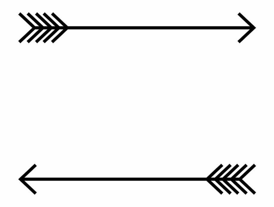Arrow Border Rubber Stamp.