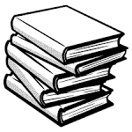 BIG IMAGE (PNG) in book line art collection.