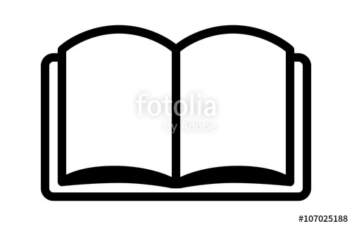 Reading a book or education line art icon for learning apps and.