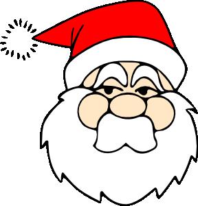 Santa Line Art clip art Free Vector / 4Vector.