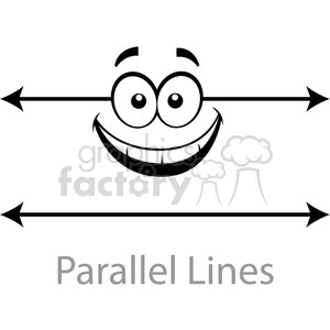geometry parallel cartoon face lines horizontal math clip art graphics  images clipart. Royalty.