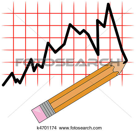 Clipart of bar graph and crayons on clipboard k4502791.