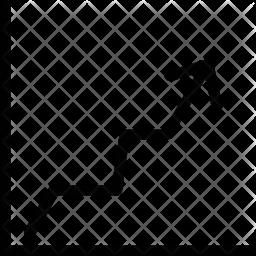 Line Graph Icon.