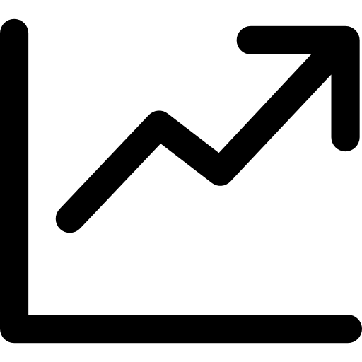 Line chart Icons.