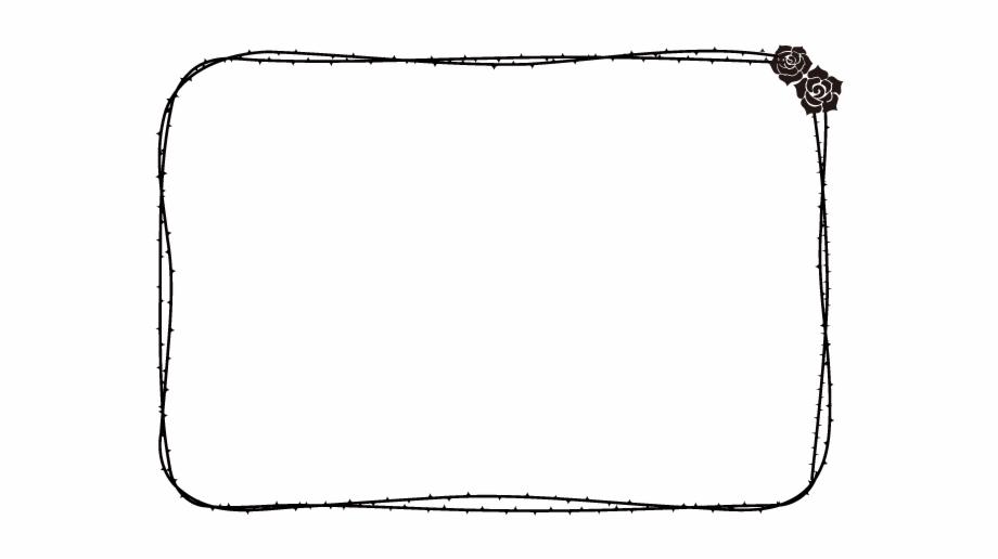 Rose Vector Frame Line Art.
