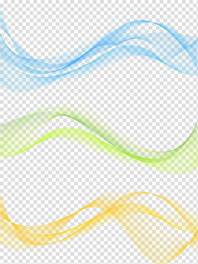 Blue, green, and yellow spiral illustration, Line Curve.