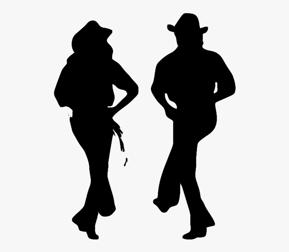 Country Line Dancing Silhouette , Transparent Cartoon, Free.
