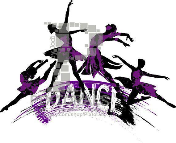 4 Dancers Logo. Line Art, EPS file, Vector and jpeg, png.
