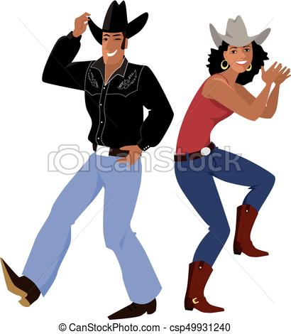 Western country line dance.