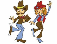 Country Line Dancing Clip Art.