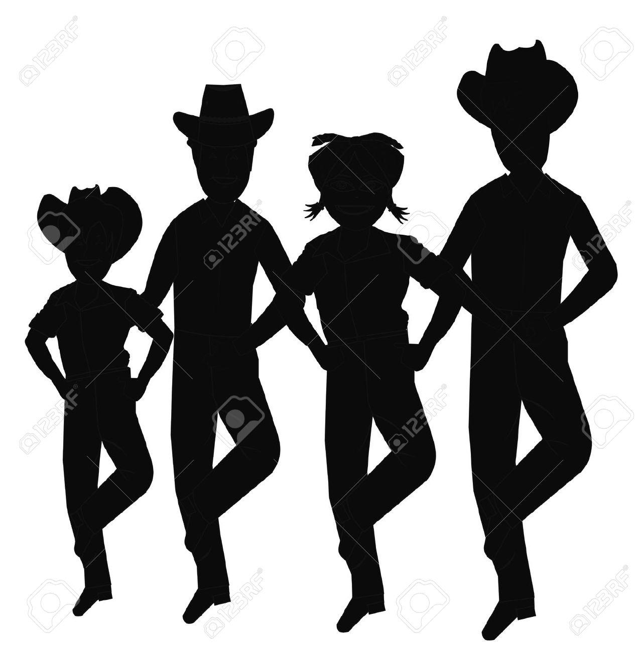Line Dance Logo Clipart.
