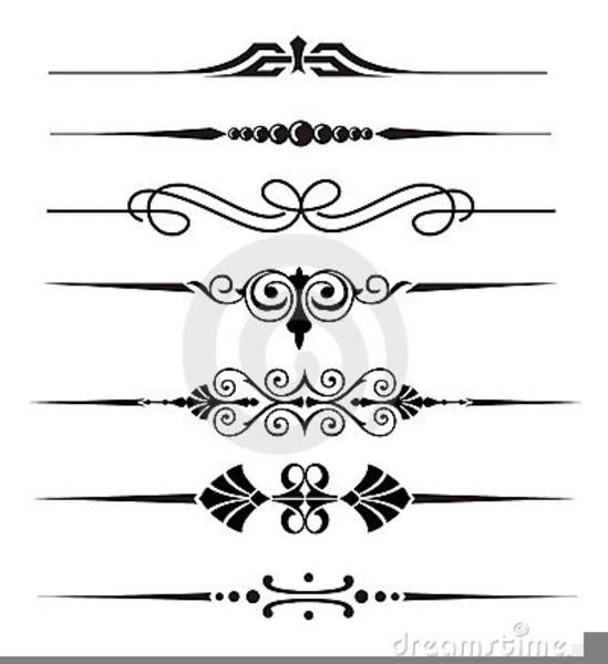 Wedding Line Divider Clipart.