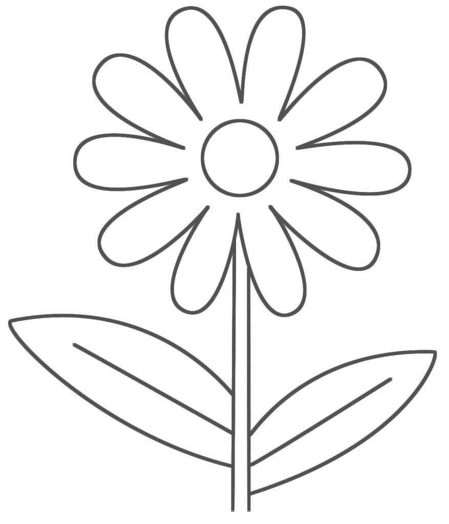 Flower Line Drawing Clip Art Free at PaintingValley.com.