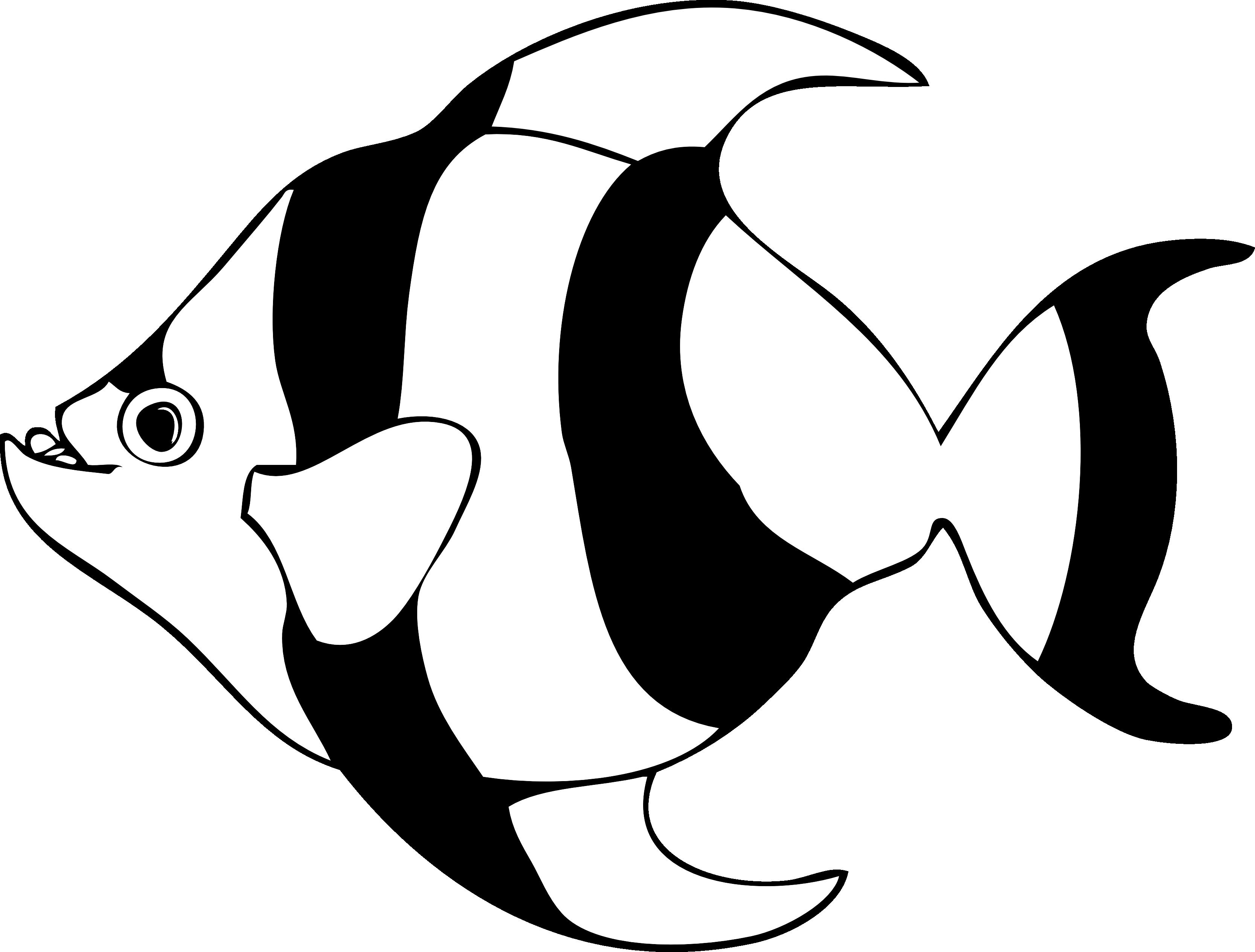 Fish Line Art.