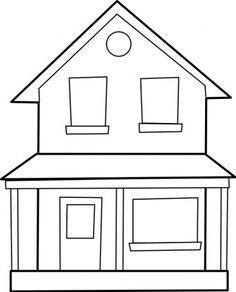 line drawing house clipart #20
