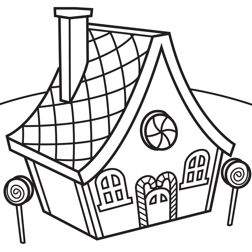 line drawing house clipart #8