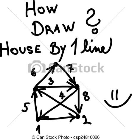 line drawing house clipart #5