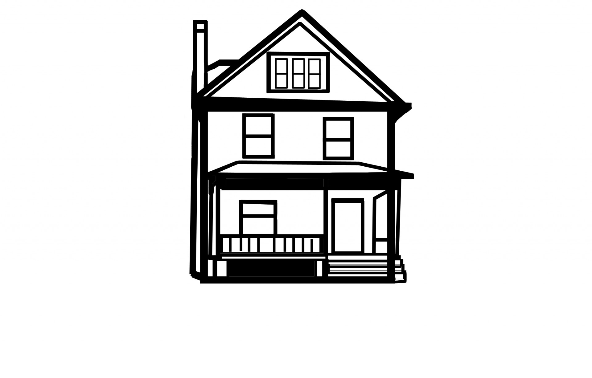 House Line Drawing Free Stock Photo.