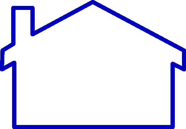 Thick Blue Line House Clip Art at Clker.com.