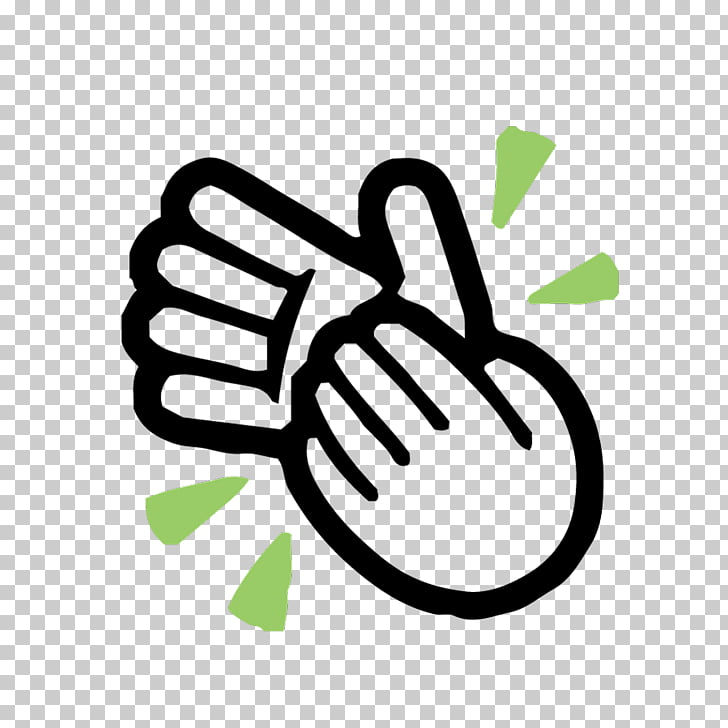 Clapping Emoji Android Finger Line Hand, dj dance PNG.