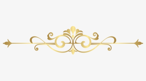 Decorative Line Gold Clipart Png.