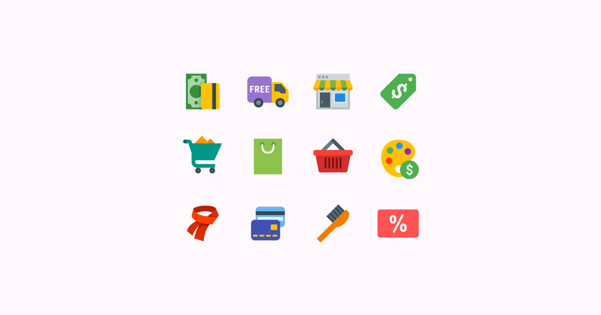 Shop Till You Drop: 20 Packs of Free Shopping Clipart and Icons.