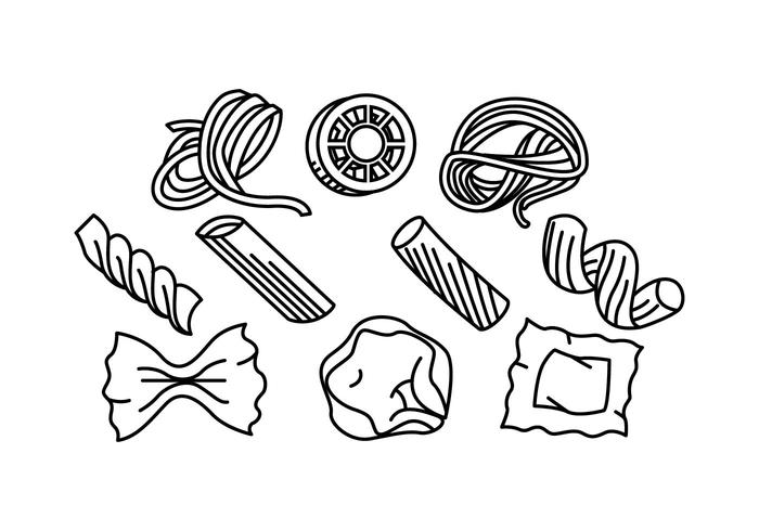 Free Pasta Line Icon Vector.