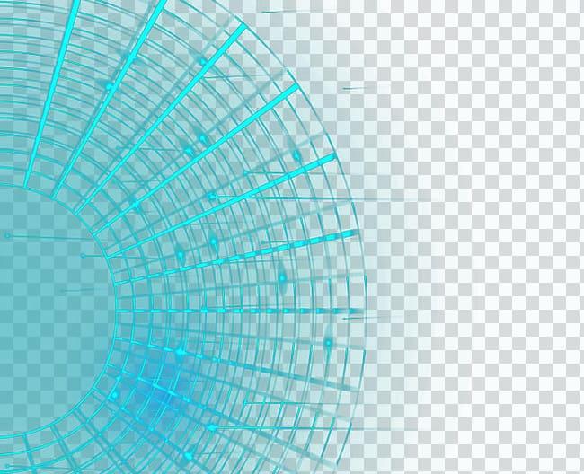 Turquoise Circle Font, Circular line light effect.
