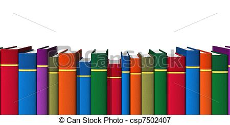 Row of books clipart 3 » Clipart Station.